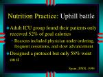nutrition practice uphill battle