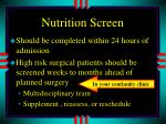 nutrition screen