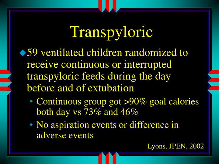 Transpyloric
