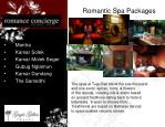 romantic spa packages