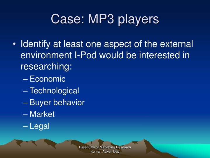 Case: MP3 players