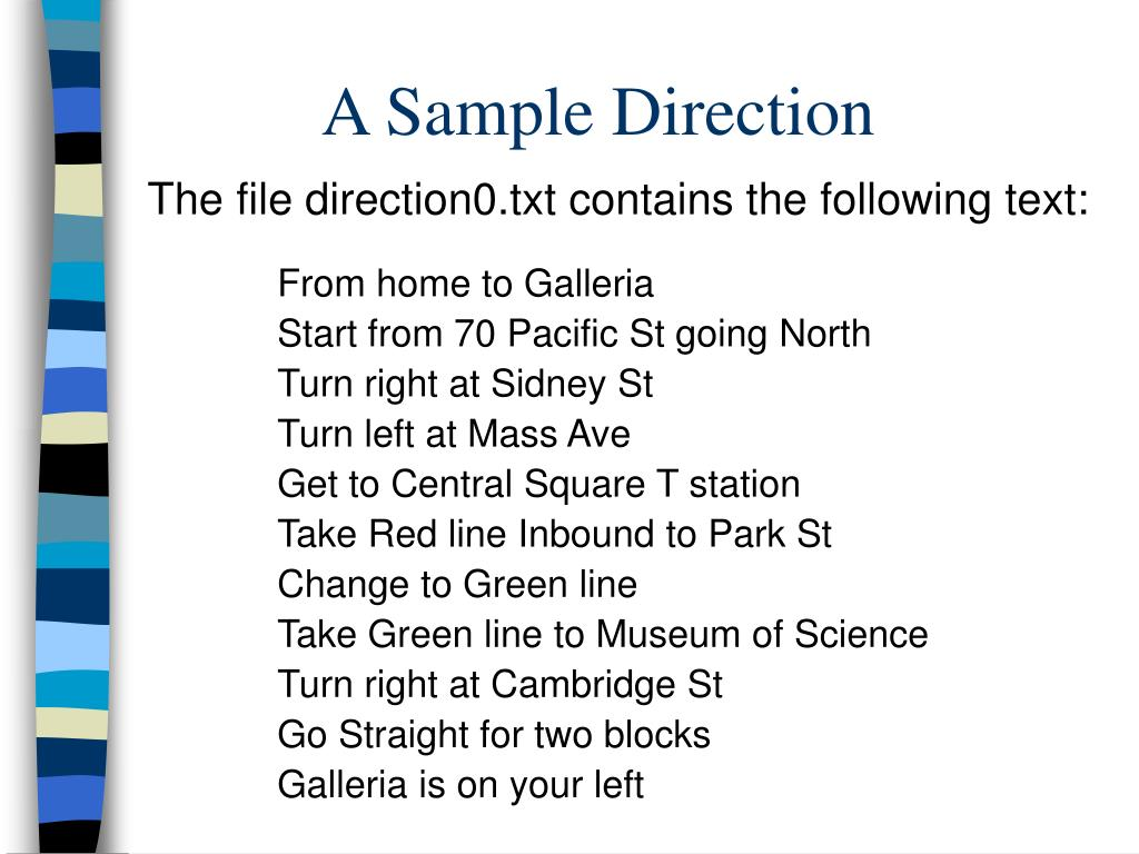 A Sample Direction