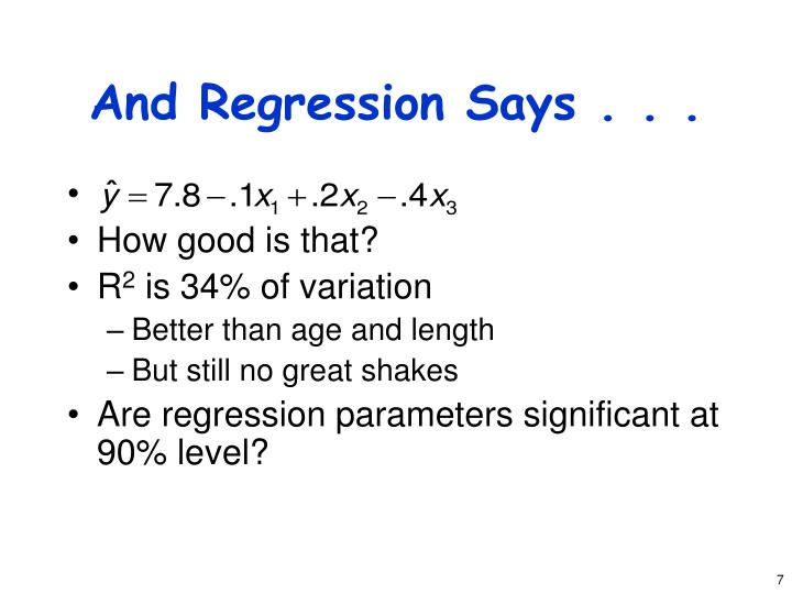 And Regression Says . . .