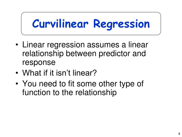 Curvilinear Regression