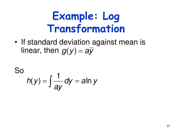 Example: Log Transformation
