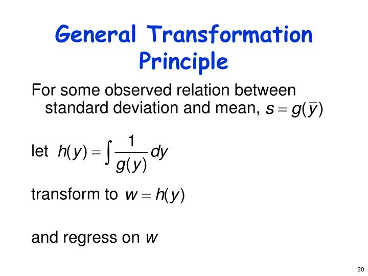General Transformation Principle