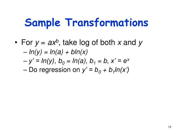 Sample Transformations