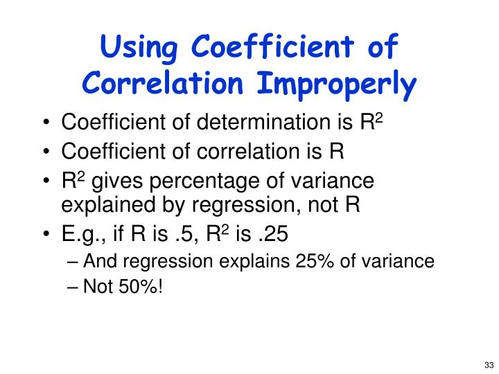 Using Coefficient of Correlation Improperly