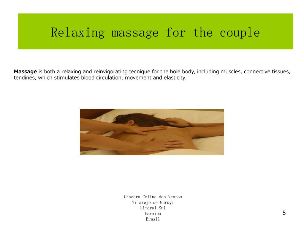 Relaxing massage for the couple