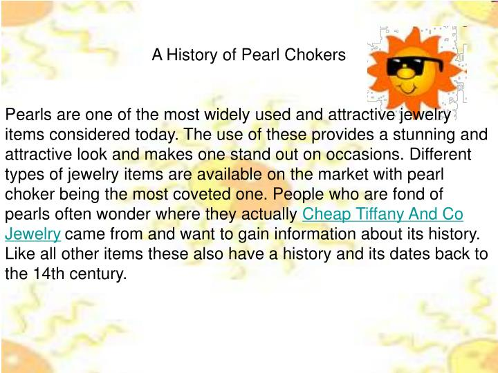 A History of Pearl Chokers