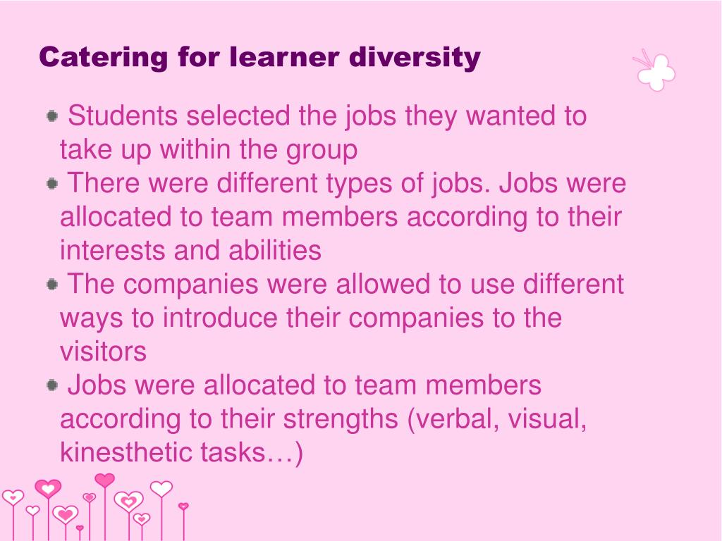 Catering for learner diversity