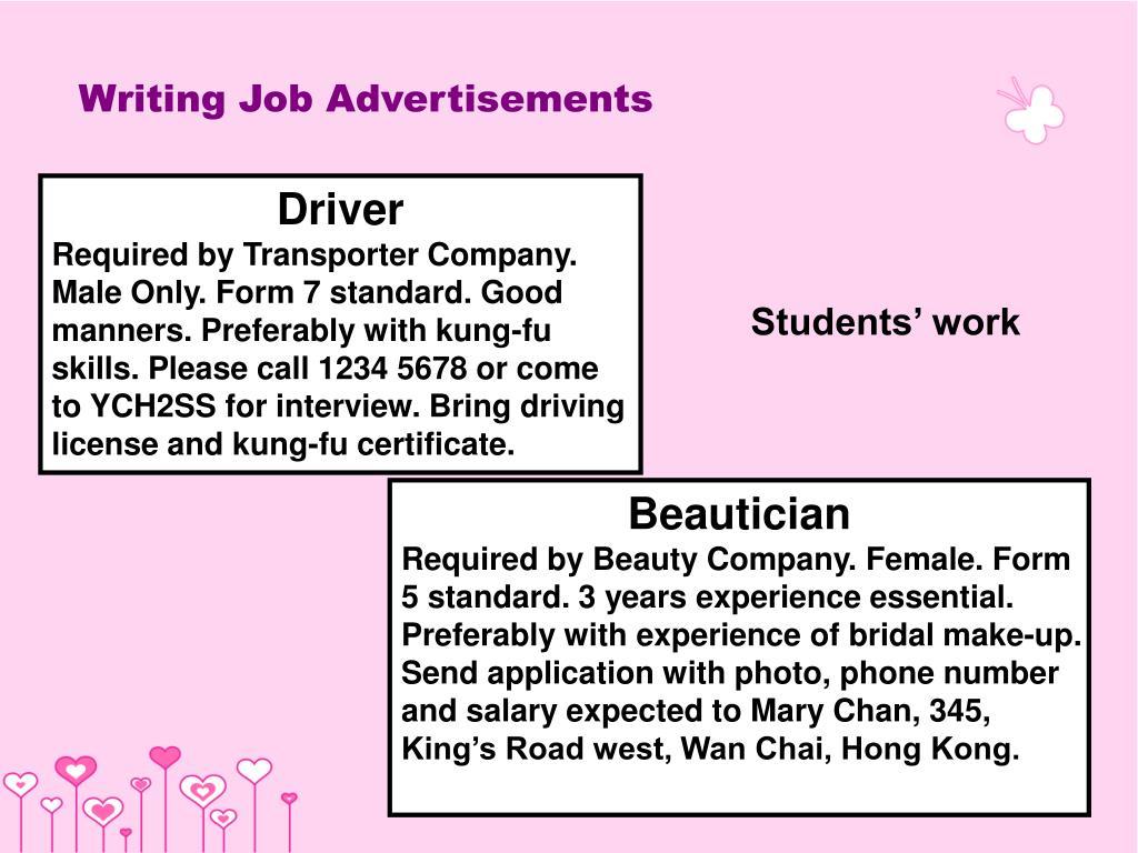 Writing Job Advertisements