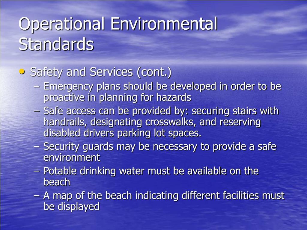 Operational Environmental Standards