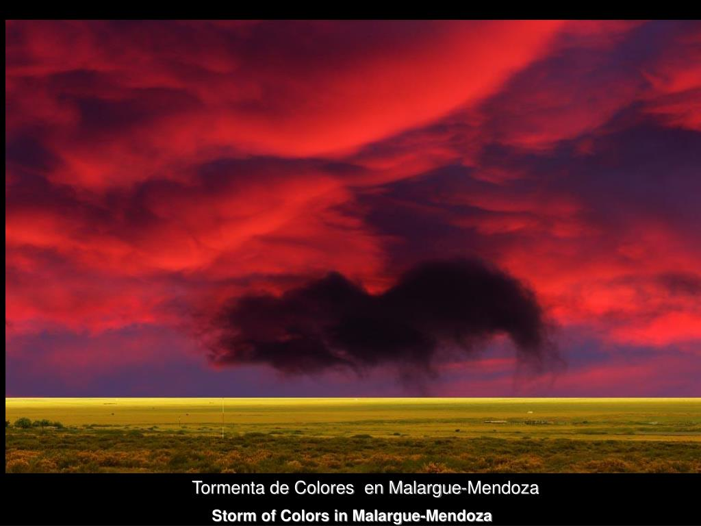 Tormenta de Colores  en Malargue-Mendoza
