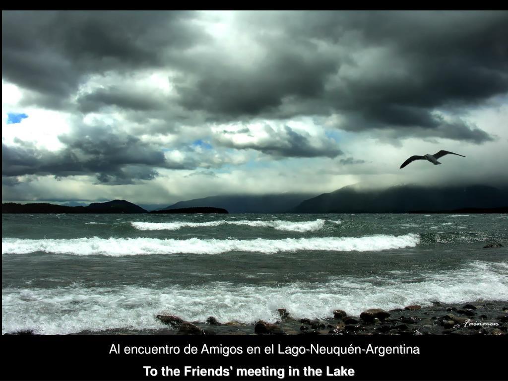 Al encuentro de Amigos en el Lago-Neuquén-Argentina