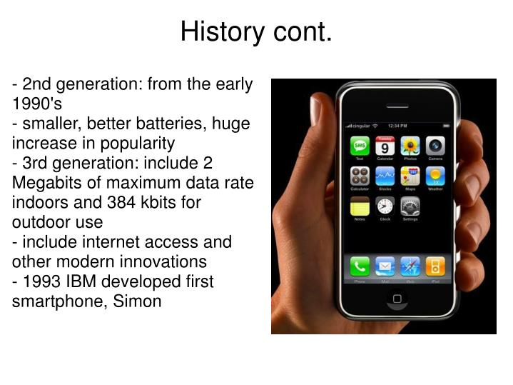 - 2nd generation: from the early 1990's