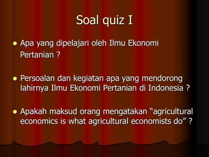 Soal quiz I