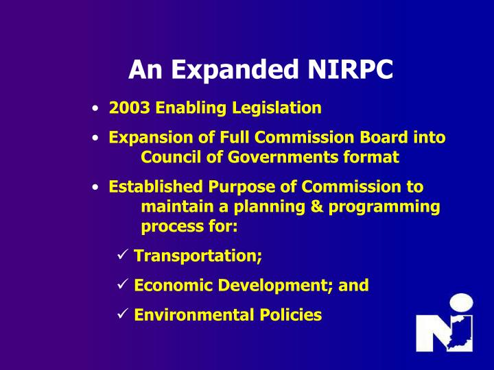 An Expanded NIRPC