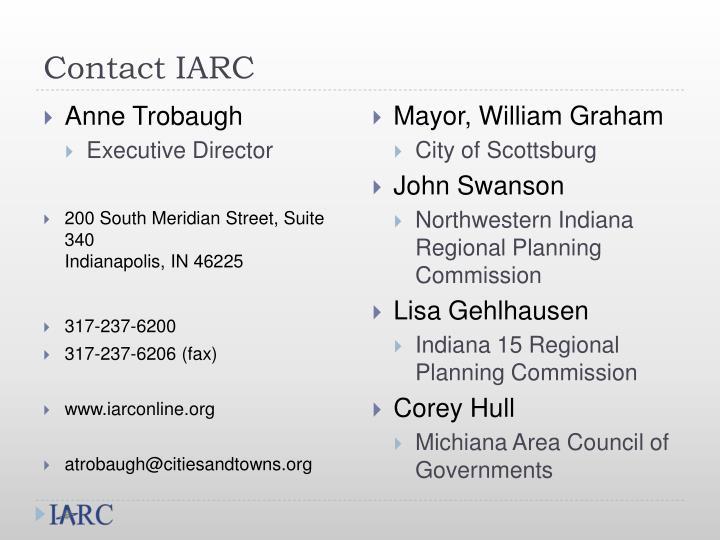 Contact IARC