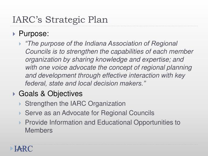 IARC's Strategic Plan
