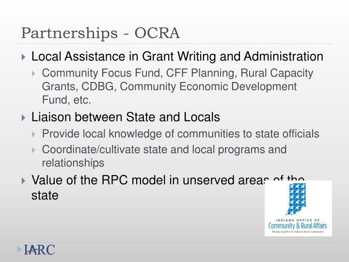 Partnerships - OCRA