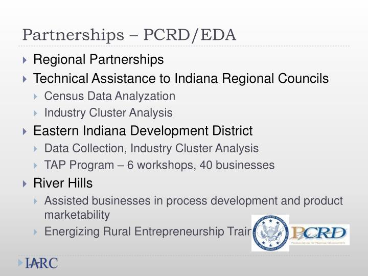 Partnerships – PCRD/EDA