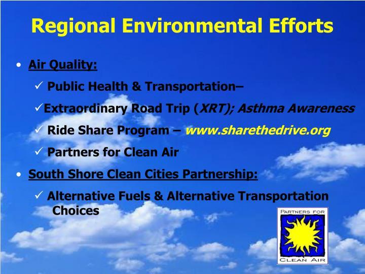 Regional Environmental Efforts
