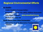 regional environmental efforts