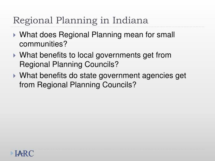 Regional planning in indiana