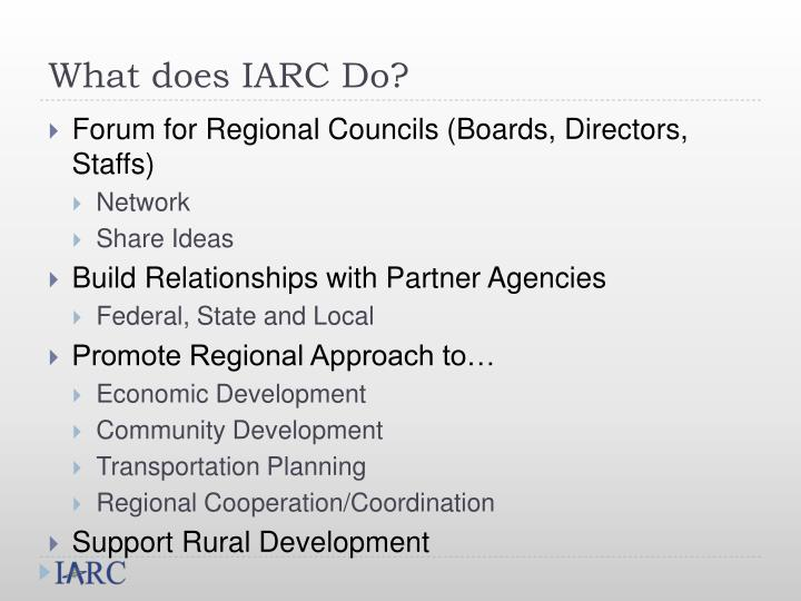 What does IARC Do?