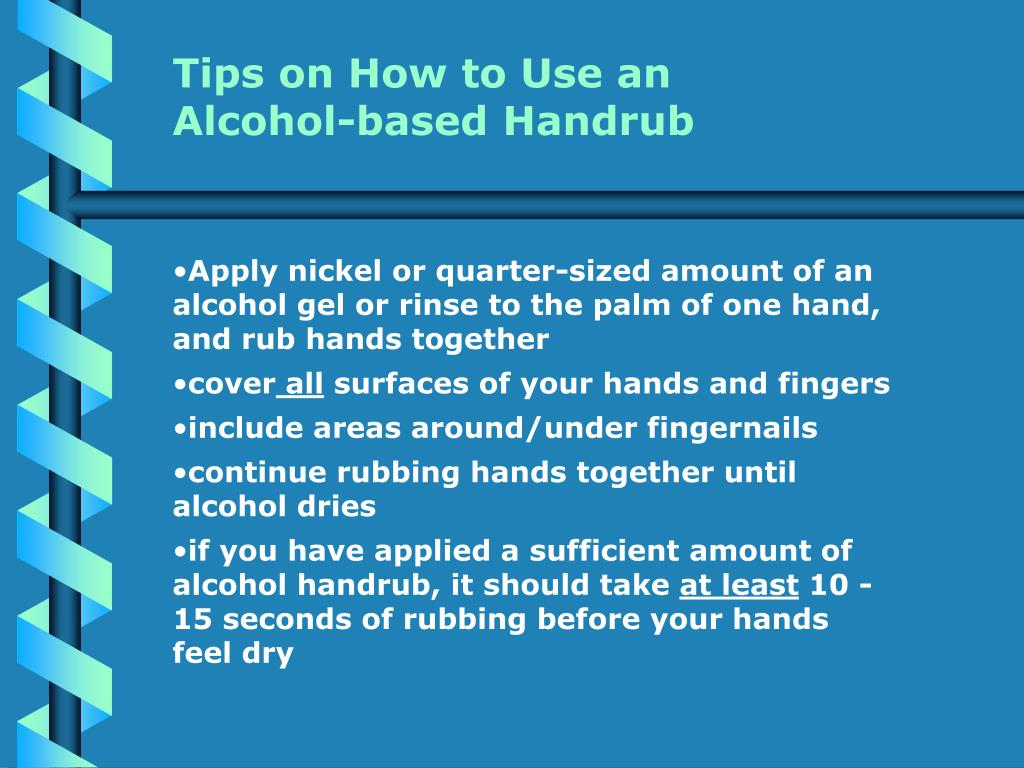 Tips on How to Use an Alcohol-based Handrub