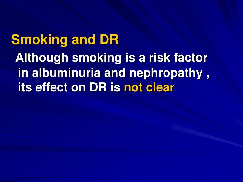 Smoking and DR