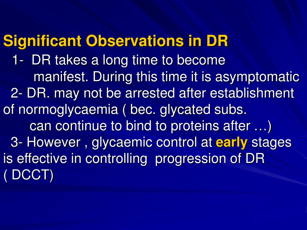 Significant Observations in DR