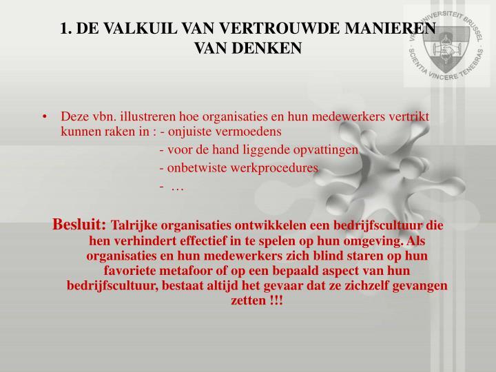 1. DE VALKUIL VAN VERTROUWDE MANIEREN