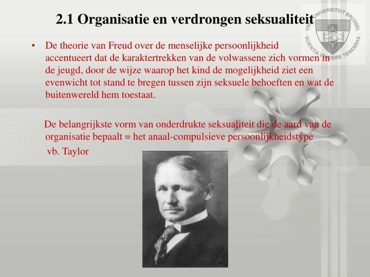 2.1 Organisatie en verdrongen seksualiteit