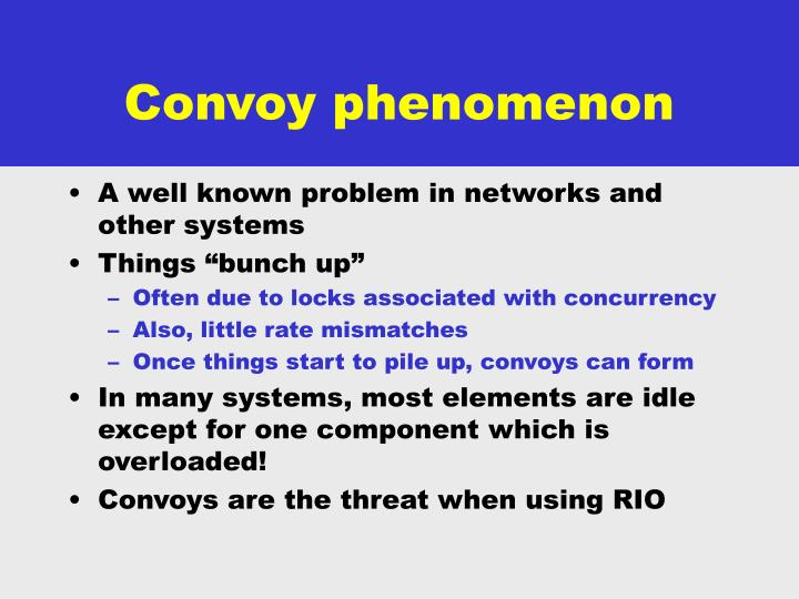 Convoy phenomenon