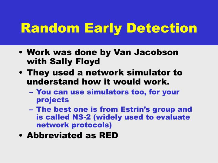Random Early Detection