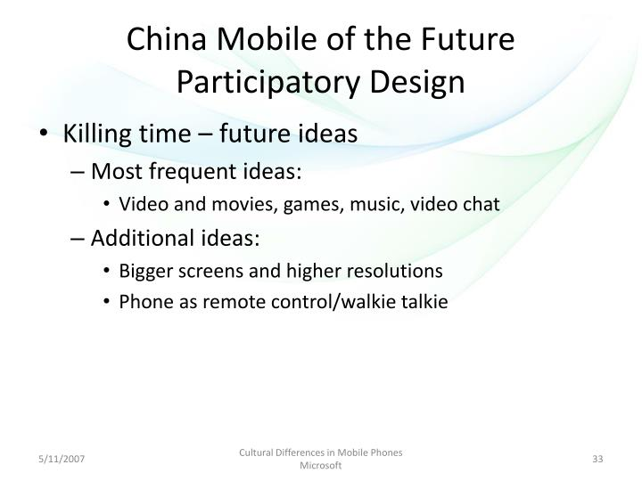 China Mobile of the Future Participatory Design