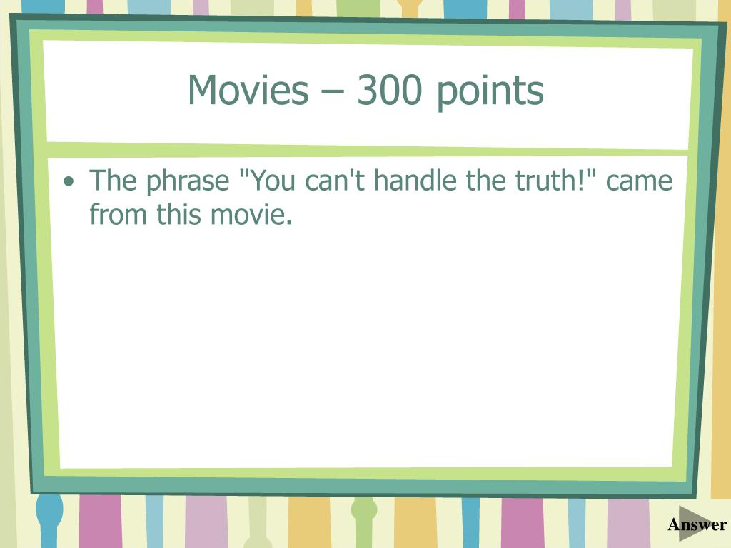 Movies – 300 points