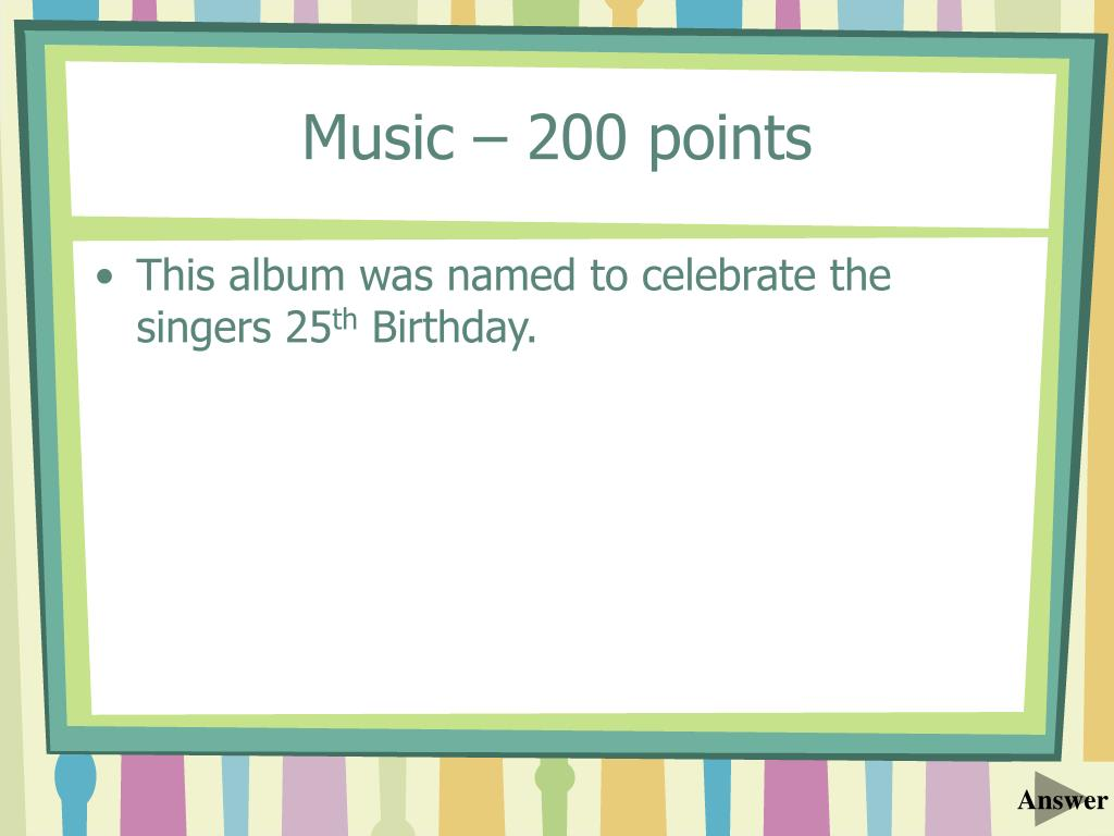 Music – 200 points