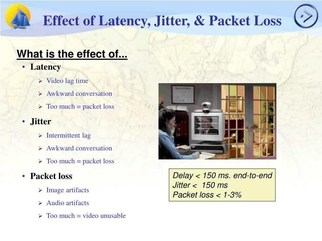 Effect of Latency, Jitter, & Packet Loss