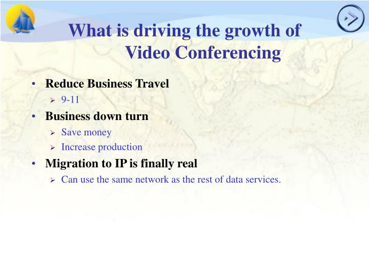 What is driving the growth of video conferencing