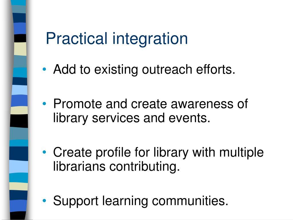 Practical integration
