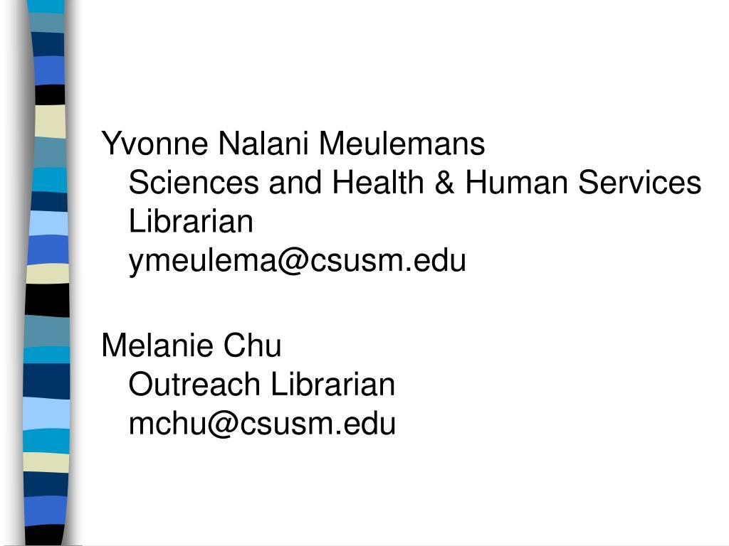 Yvonne Nalani Meulemans