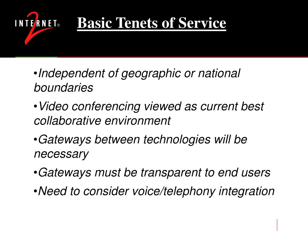 Basic Tenets of Service