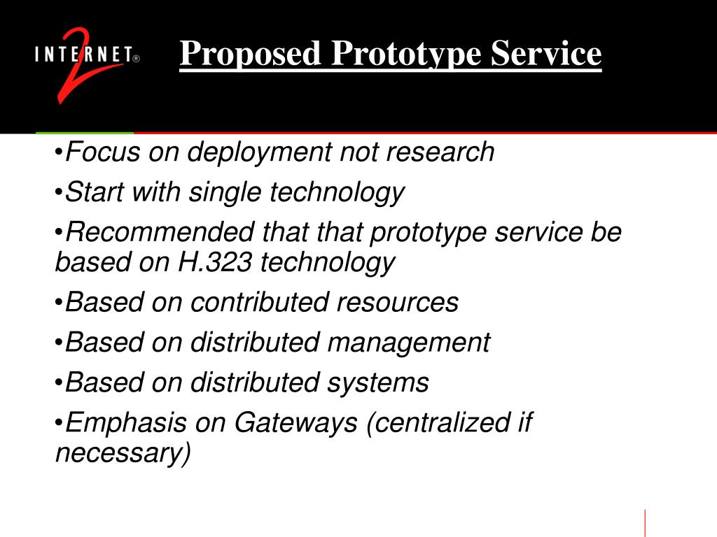 Proposed Prototype Service