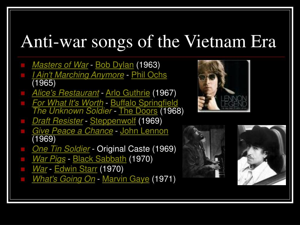Anti-war songs of the Vietnam Era