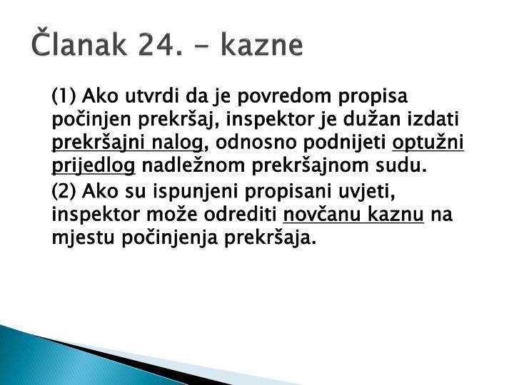 Članak 24. - kazne