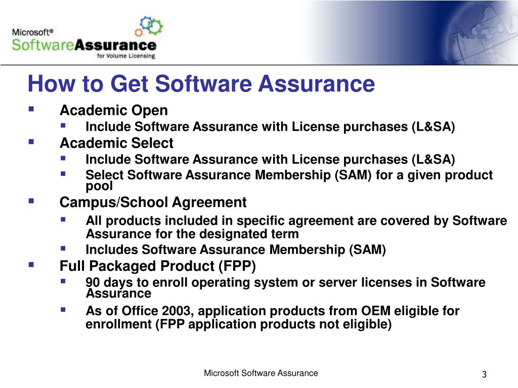 How to Get Software Assurance