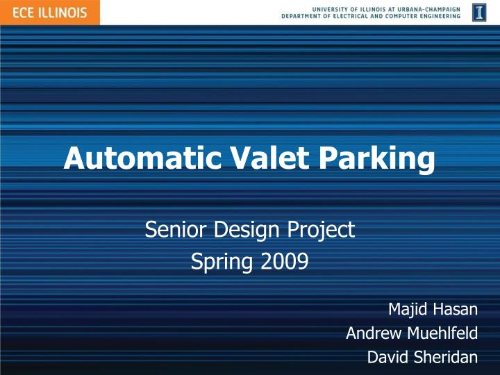 Automatic valet parking